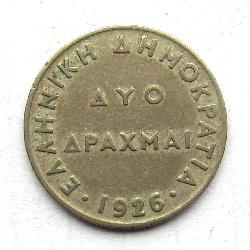 Greece 2 Dr 1926