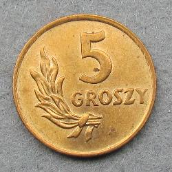 Poland 5 grosh 1949