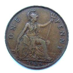 Great Britain 1 penny 1936