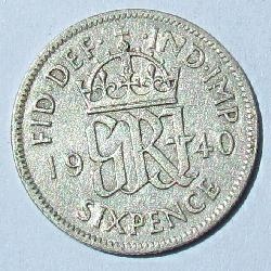 Great Britain 6 pence 1940