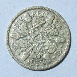 Great Britain 6 pence 1932