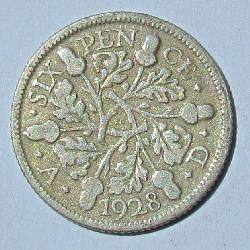 Great Britain 6 pence 1928