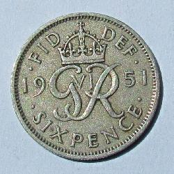 Great Britain 6 pence 1951