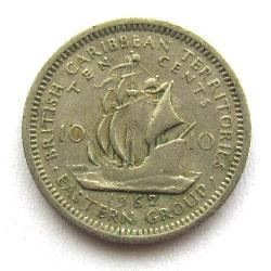 Eastern Caribbean Territories 10 cents 1962