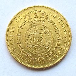 Spain 100 Rs 1850 Doubloon