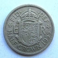 Great Britain 1/2 crown 1955