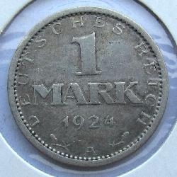 Germany 1 Mark 1924 A