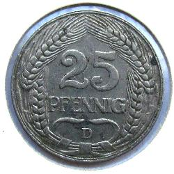 Germany 25 Pf 1909 D