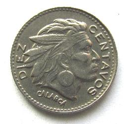 Colombia 10 Centavo 1956