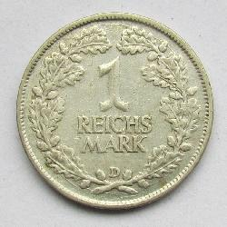 Germany 1 Mark 1925 D