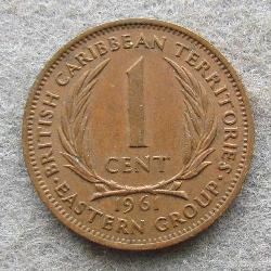 Eastern Caribbean Territories 1 cent 1961