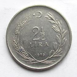 Turkey 2,5 lira 1975