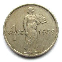 Luxembourg 1 franc 1939